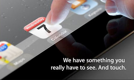Apple's teaser invitation, product launch 2012