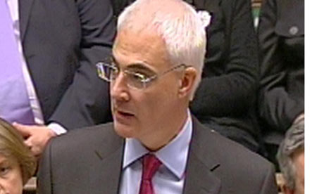 Alistair Darling delivers his annual pre-budget report in the House of Commons