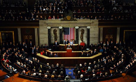 State of the Union address to a joint session of Congress