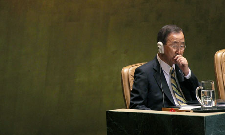 Ban Ki-moon at the UN