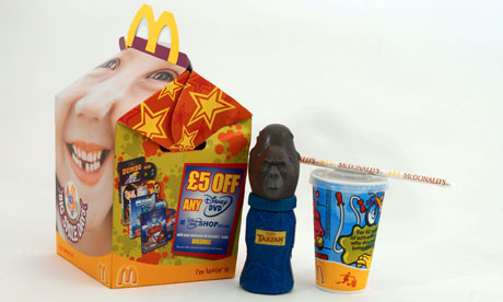 A McDonalds Happy Meal with Disney toy