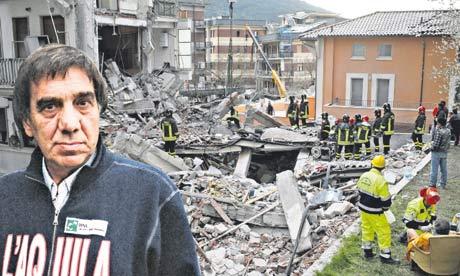 Giampaolo Giuliani and the ruins of L'Aquila