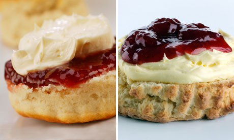 A composite of two scones.