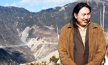 Tibetan environmentalist Karma Samdrup at Mount Kawakarpo Dechen, in China's Yunnan province, 2008.