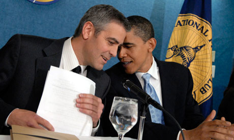 Barack Obama with George Clooney