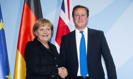 Merkel and Cameron in Berlin