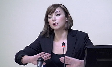 Charlotte Church speaking at the Leveson inquiry