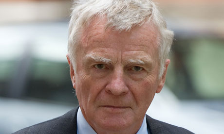 Close-up of Max Mosley