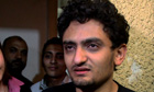 Egyptian Wael Ghonim, talks at his home in Cairo, Egypt, on Monday.