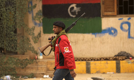 Libyan rebel in Benghazi