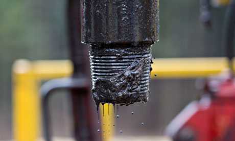 A drill pipe at a shale gas operation in Pennsylvania