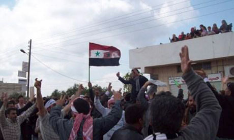 syria protests douma