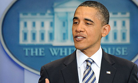 US President Barack Obama makes a statement on his birth certificate at the White House.