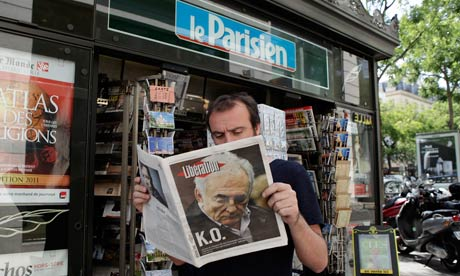The Strauss-Kahn story hits French news-stands