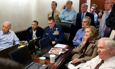 Watching the mission to kill Bin Laden