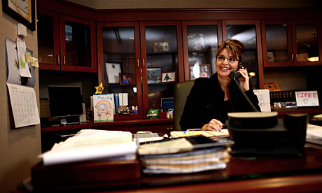 Sarah Palin in the Alaska governor's office, in 2007.