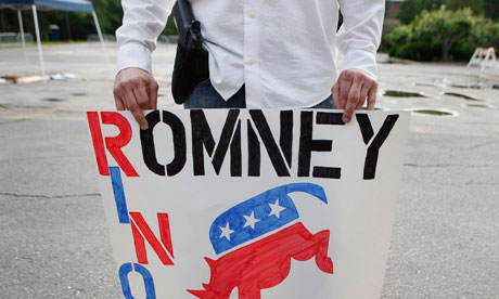 A supporter of Mitt Romney