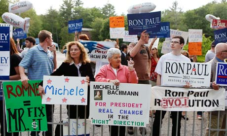 Supporters of Republican presidential hopefuls