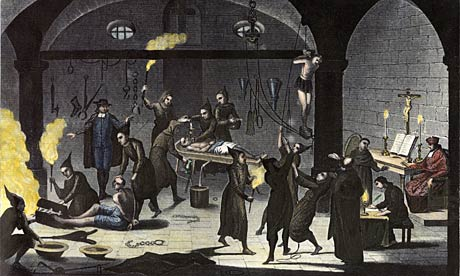 A variety of tortures used during the Spanish Inquisition