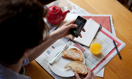 Smartphone at Breakfast