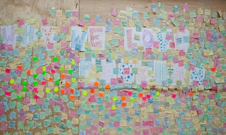 A message board set up in Peckham outside a looted Poundland store