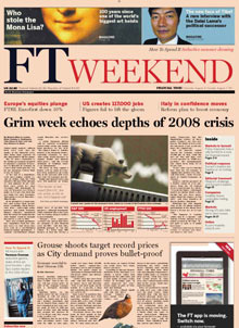 FT Weekend front page 06.08.11