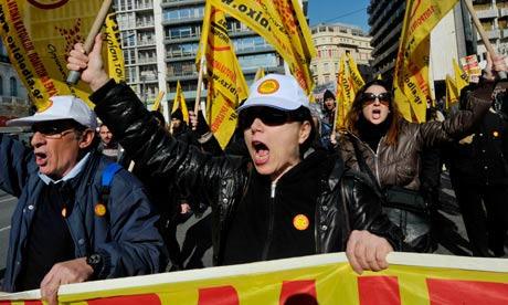 Greek protests, Athens, Eurozone crisis