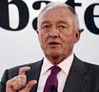 Ken Livingstone during the Evening Standard mayoral debate in London