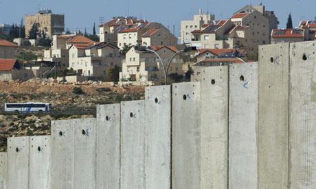 Concrete wall separating Bethlehem from Jerusalem