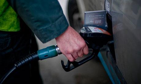 Motorist fills car with petrol