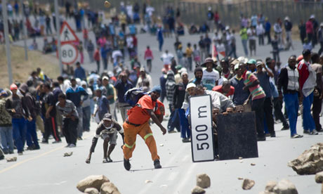 Striking farmworkers South Africa