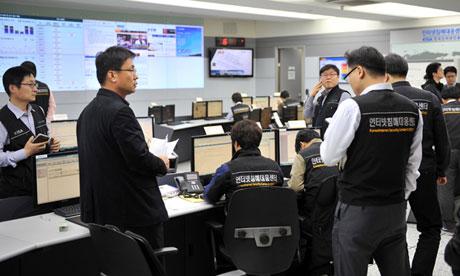 Korea Internet Security Agency members at work