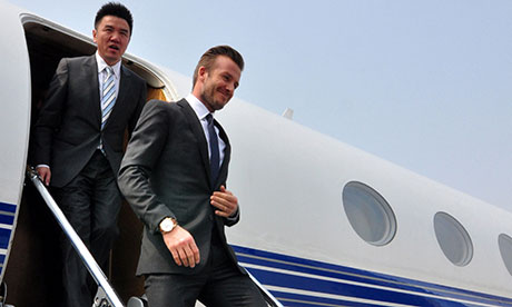 David Beckham in Qingdao, China - 22 Mar 2013