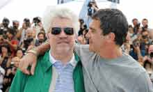 Pedro Almodovar and Antonio Banderas at Cannes