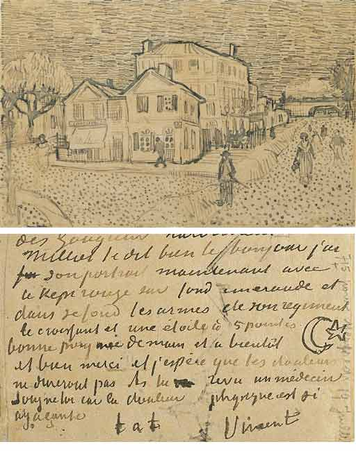van gogh letters lost drawing in gogh auction uk news the guardian 25414 | Vangogh letter