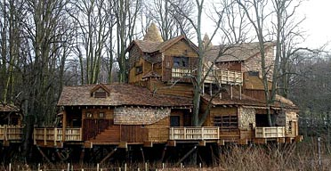 Biggest Treehouse In The World Inside tree house in the grand manner | uk news | the guardian