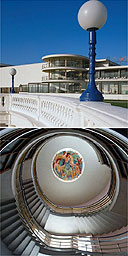 De La Warr Pavilion and staircase of Morecambe's Midland Hotel