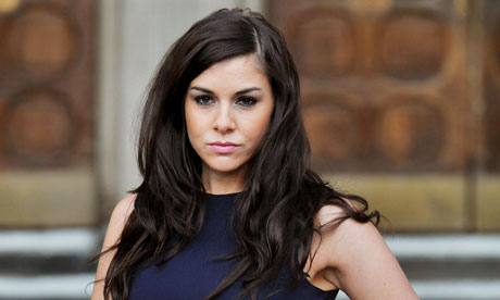 Imogen Thomas outside high court hearing