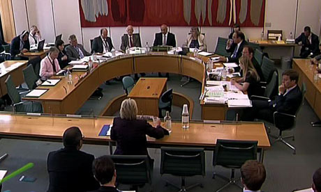 Sue Akers giving evidence to the Home Affairs Select Committee about the phone hacking scandal