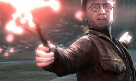 A screengrab from the videogame Harry Potter and the Deathly Hallows: Part two