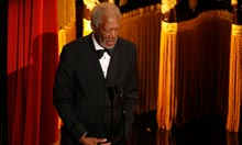 Actor Morgan Freeman introduces the opening segment at the 84th Academy Awards in Hollywood