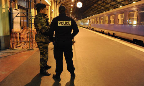 Police on guard in Toulouse after the Jewish school shootings