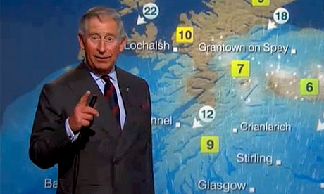 Prince Charles reads weather