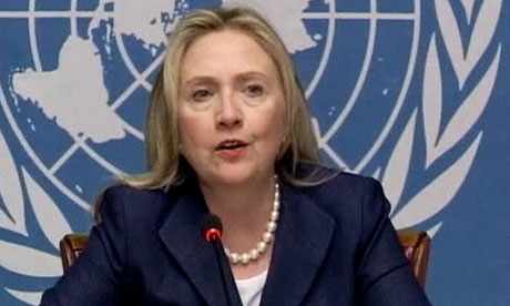 US secretary of state, Hillary Clinton