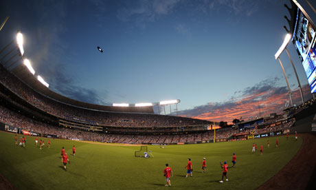 The Kauffmann Stadium in Kansas City
