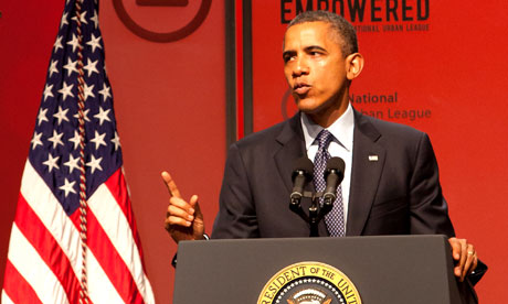Barack Obama speaks at the National Urban League convention