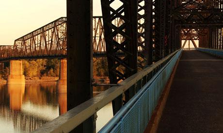 The Chain of Rocks bridge in St Louis