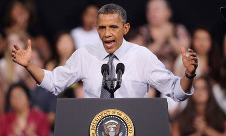 Barack Obama makes a campaign stop in Las Vegas