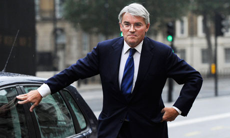 Andrew Mitchell speaks to the media