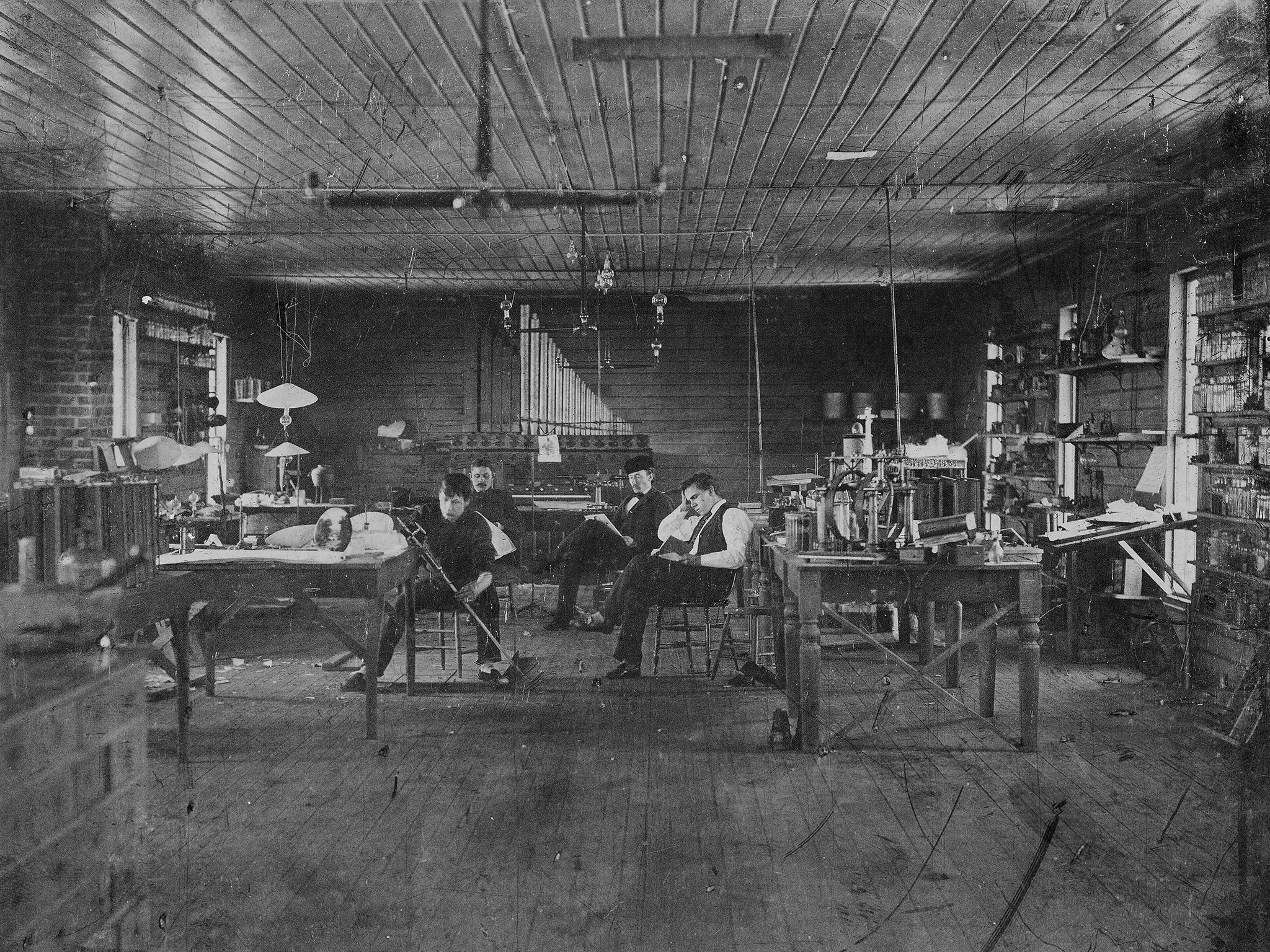 Thomas Edison's Assistants - A Picture From The Past